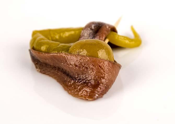 Anchoa gourmet Kilele con encurtido